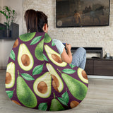 Avocado Pattern Print Design AC08 Bean Bag Chairs