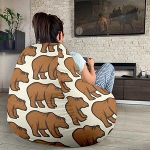 Bear Pattern Print Design BE05 Bean Bag Chairs