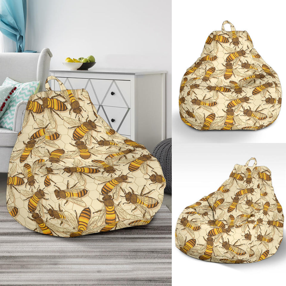 Bee Pattern Print Design BEE05 Bean Bag Chairs