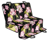 Water Lily Pattern Print Design WL06 Rear Dog  Seat Cover