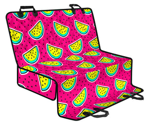 Watermelon Pattern Print Design WM04 Rear Dog  Seat Cover