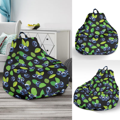 Blueberry Pattern Print Design BB03 Bean Bag Chairs