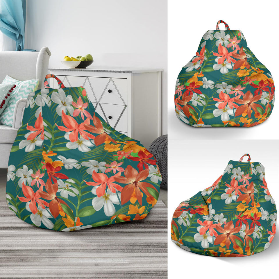 Amaryllis Pattern Print Design AL06 Bean Bag Chairs