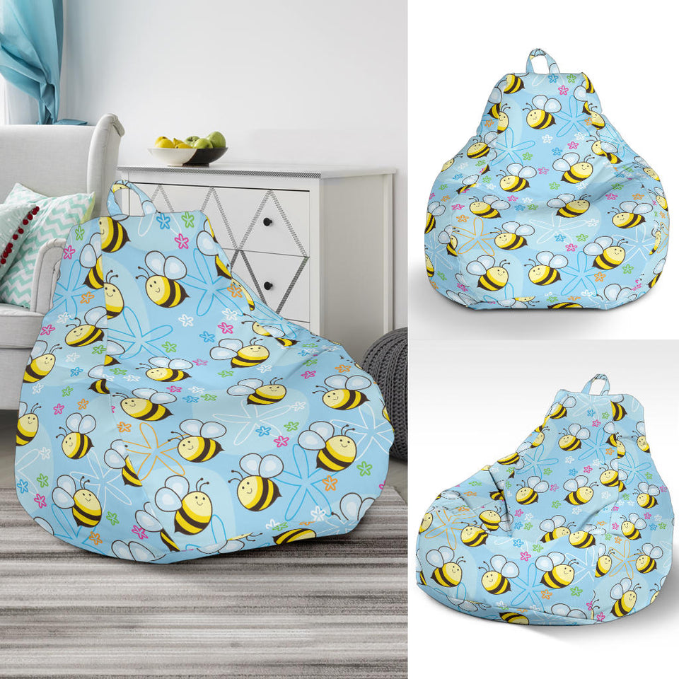Bee Pattern Print Design BEE03 Bean Bag Chairs