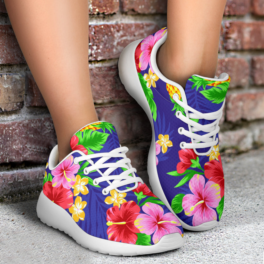 Hawaiian Themed Pattern Print Design H05 Sneakers Shoes