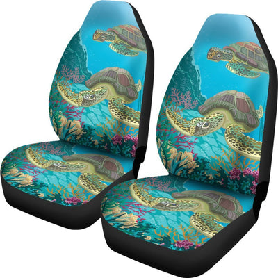 Funny Sea Turtle Print Universal Fit Car Seat Covers