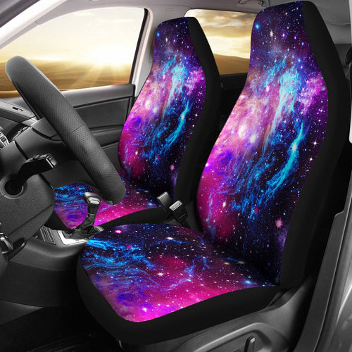 Galaxy Nigjht Purple Space Print Universal Fit Car Seat Covers