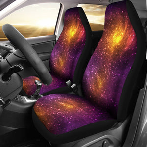 Galaxy Stardust Nebula Space Print Universal Fit Car Seat Covers