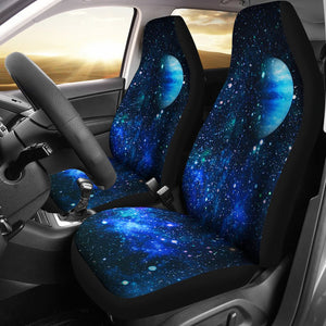 Galaxy Stardust Planet Space Print Universal Fit Car Seat Covers