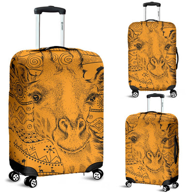 Giraffe African Luggage Cover Protector