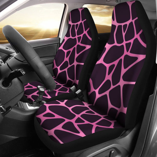 Giraffe Pink Background Texture Print Universal Fit Car Seat Covers