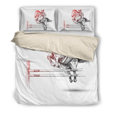 Girl Horse Riding Duvet Cover Bedding Set