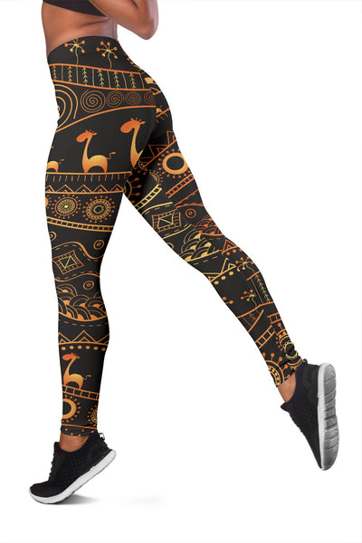 Gold African Design Women Leggings