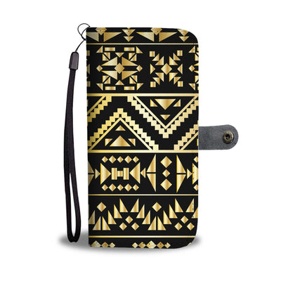 Gold Aztec Tribal Wallet Phone case