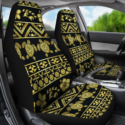 Tribal Aztec Sea Turtle Hawaiian Flower Universal Fit Car Seat Covers