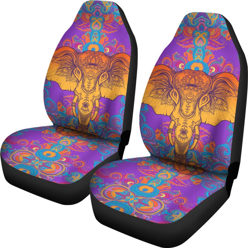 Gold Elephant Indian Universal Fit Car Seat Covers