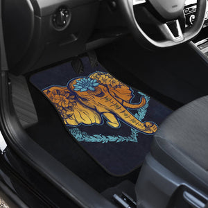 Gold Elephant Lotus Car Floor Mats