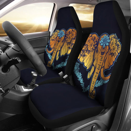 Gold Elephant Lotus Universal Fit Car Seat Covers