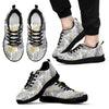 Gold Glitter Tropical Palm Leaves Men Sneakers