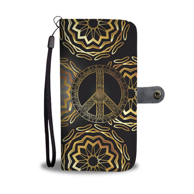 Gold Mandala Peace Wallet Phone Case