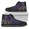 Gold Mandala Peace Women High Top Canvas Shoes