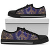 Gold Mandala Peace Women Low Top Canvas Shoes