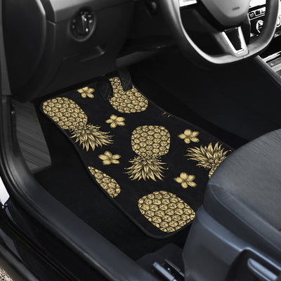 Gold Pineapple Hibiscus Car Floor Mats