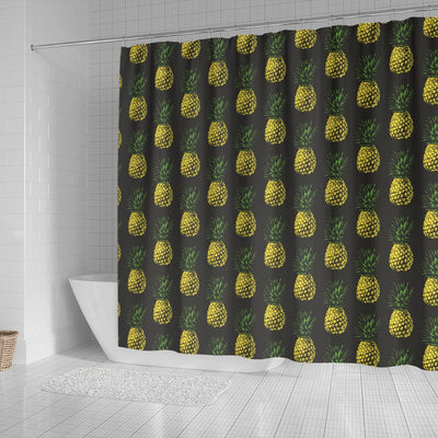 Gold Pineapple Shower Curtain