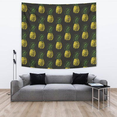 Gold Pineapple Wall Tapestry