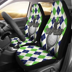 Golf Club Green argyle Pattern Universal Fit Car Seat Covers