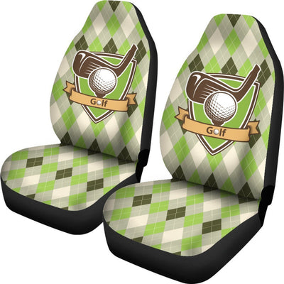 Golf Vintage argyle Pattern Universal Fit Car Seat Covers