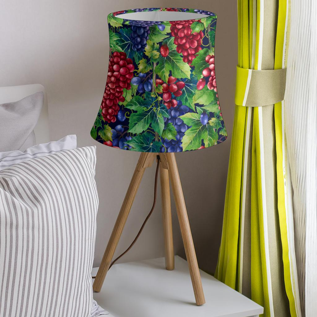Grape Pattern Print Design GP02 Drum Lamp Shade-JORJUNE.COM