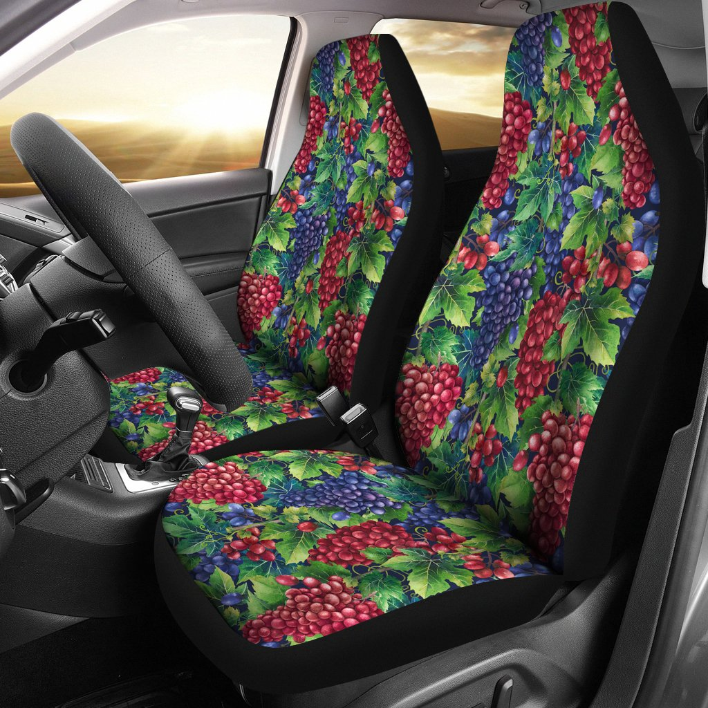 Grape Pattern Print Design GP02 Universal Fit Car Seat Covers-JorJune
