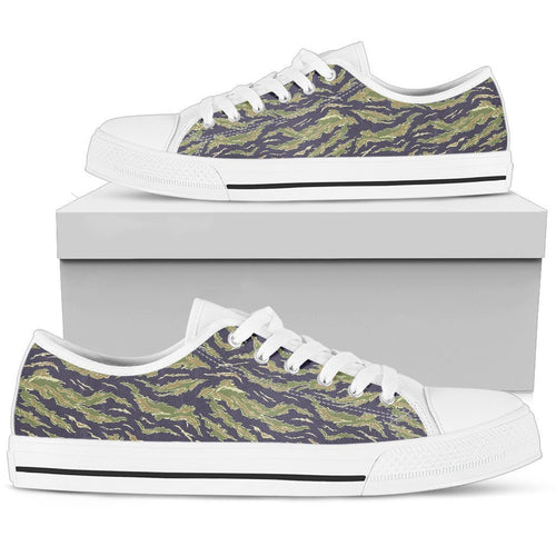 Green Camouflage Camo Men High Top Canvas Shoes