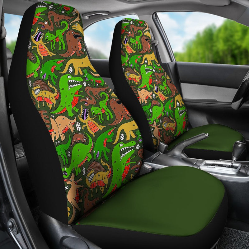 Green Dinosaur Land Universal Fit Car Seat Covers