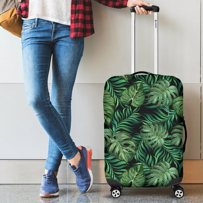 Green Fresh Tropical Palm Leaves Luggage Protective Cover