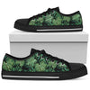 Green Fresh Tropical Palm Leaves Men Low Top Canvas Shoes
