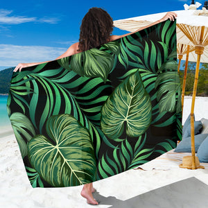 Green Fresh Tropical Palm Leaves Sarong Pareo Wrap