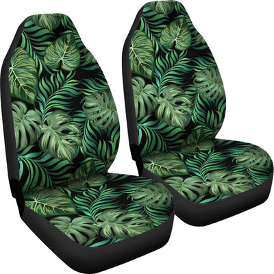 Green Fresh Tropical Palm Leaves Universal Fit Car Seat Covers