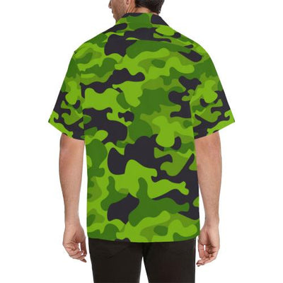 Green Kelly Camo Print Men Hawaiian Shirt