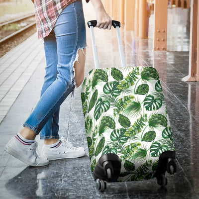 Green Pattern Tropical Palm Leaves Luggage Protective Cover