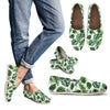 Green Pattern Tropical Palm Leaves Women Casual Shoes-JorJune.com