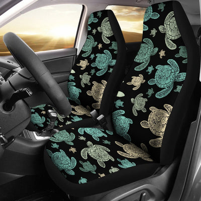 Green Sea Turtle pattern Print Universal Fit Car Seat Covers