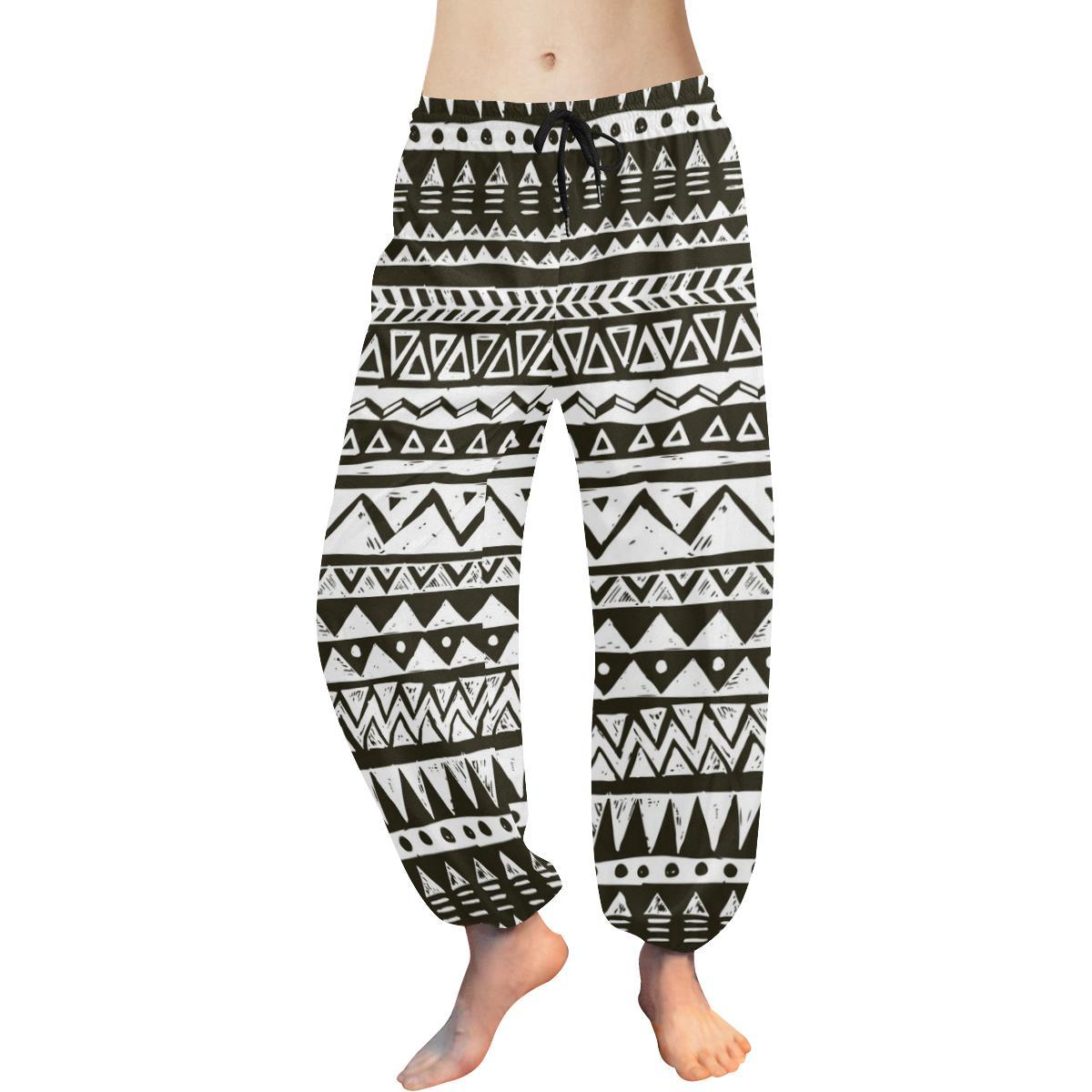 Hand draw Tribal Aztec Harem Pants