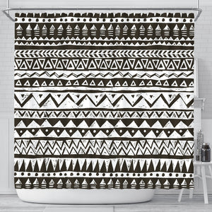 Hand Draw Tribal Aztec Shower Curtain