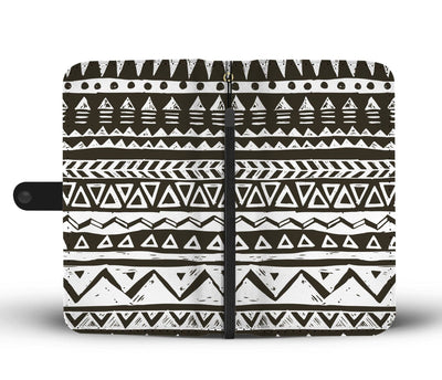 Hand draw Tribal Aztec Wallet Phone case