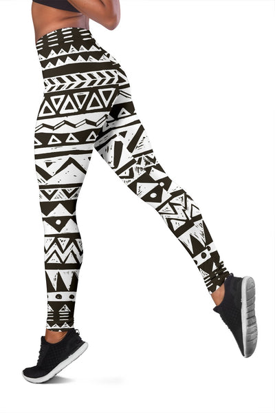 Hand draw Tribal Aztec Women Leggings