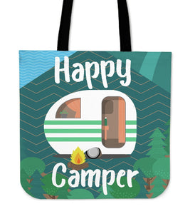 Happy Camper Camping Tote Bag
