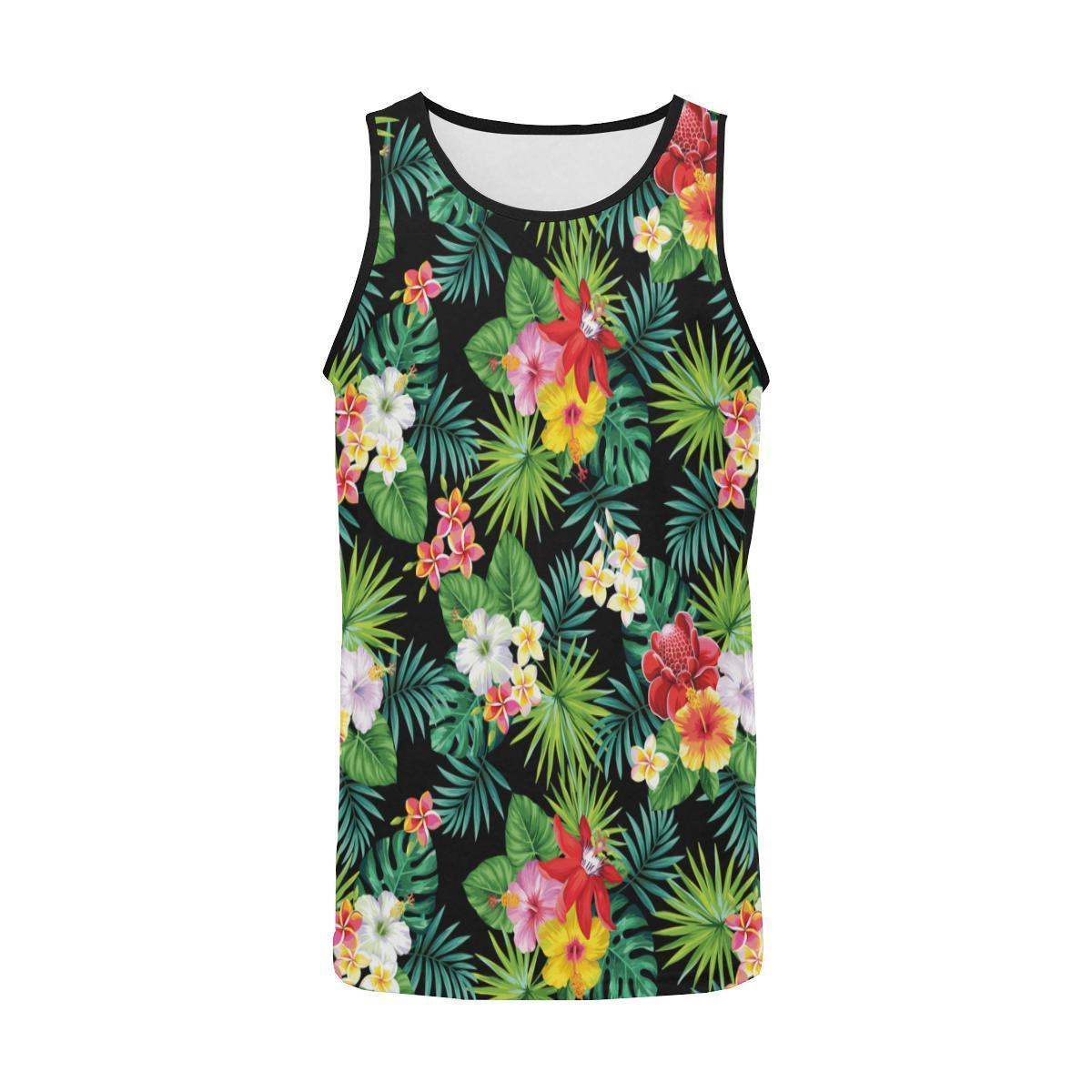 b290999a2301f1 Size Guide. undefined. SIZE GUIDE. Product Details. Hawaiian flower Jungle  Green Men Tank Top ...