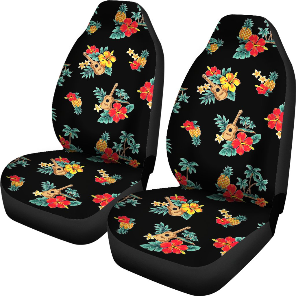 Buy Calavera Flower Themed Car Seat Covers Set Of 2: Hawaiian Flower Themed Print Universal Fit Car Seat Covers